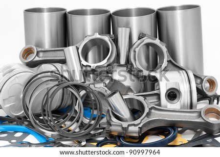 a lot of different auto spare parts - stock photo