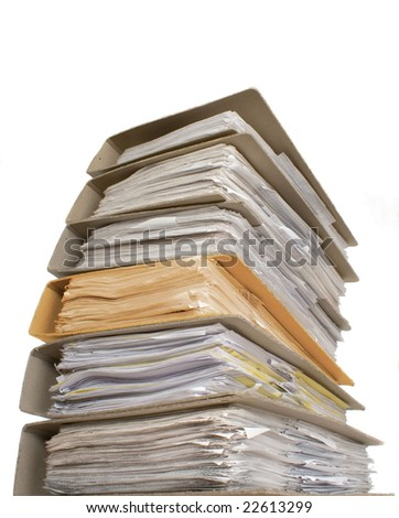 A lot of documents with one another color catalog - stock photo