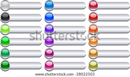 A lot of metal buttons. Raster version. - stock photo