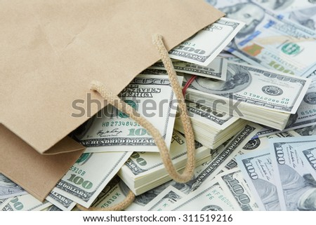 a lot of money out of a paper bag