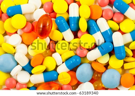 A lot of pills - stock photo