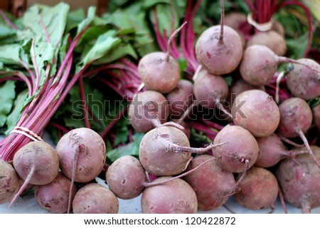 a lot of radish in market