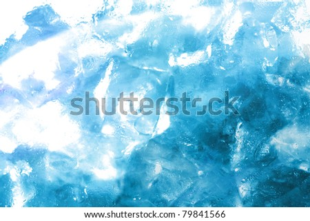 a lot of shiny wet fog up ice cubes - stock photo