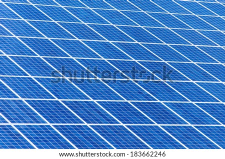 a lot of solar cells perfectly for background using