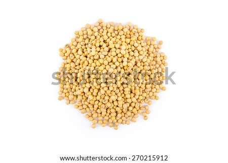a lot of soybean isolated on white background