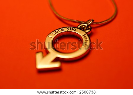 A lover's necklace for male - stock photo