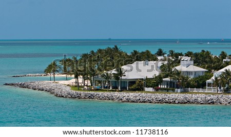 A luxury home on the Key West Harbor - stock photo