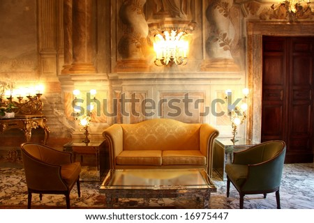 a luxury interior - stock photo