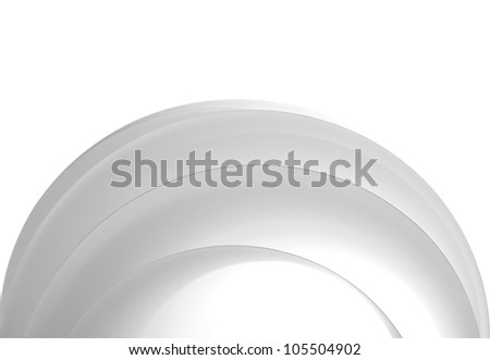 a macro, abstract, white sheets of paper on white background - stock photo