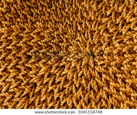 A macro shot showing fine details of rattan details