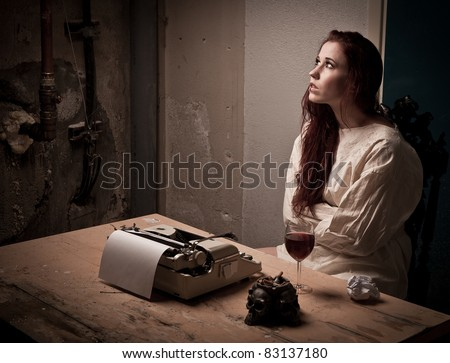 Mad Girl Wearing Straight Jacket Front Stock Photo 83137180 ...