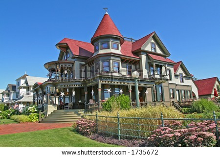 A magnificent mansion on the island of Martha's Vineyard (total cost of the house is 23 million dollars) - stock photo
