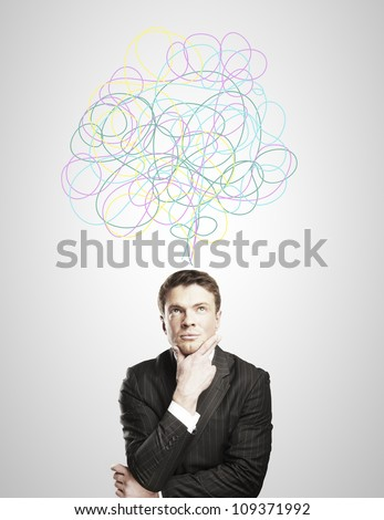 a man conceived of dreams - stock photo