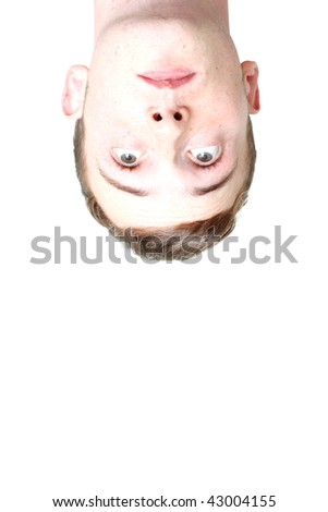 A man looking down - stock photo