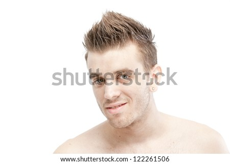 a man on the white background - stock photo