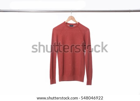 A man's sweater(t shirts) with hanger