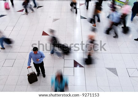 A man thinking and looking for a right direction to move - stock photo