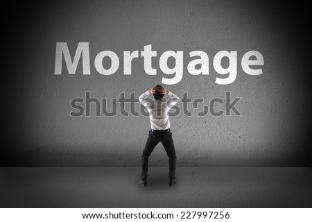 a man worried about future - stock photo