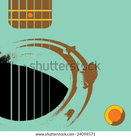 A manhole functions as sound hole in this grunge Guitar scene