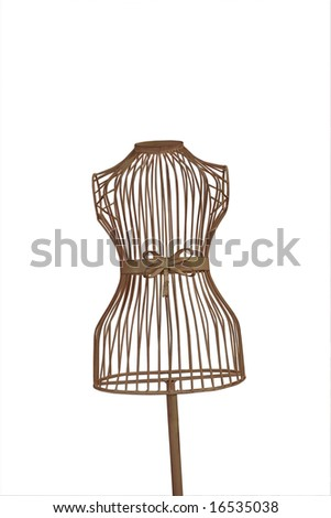 a mannequin thats see through with a clipping path on a white background - stock photo
