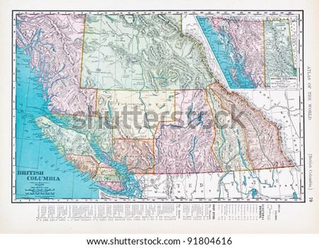 British Columbia Map Stock Images RoyaltyFree Images Vectors - British columbia canada map