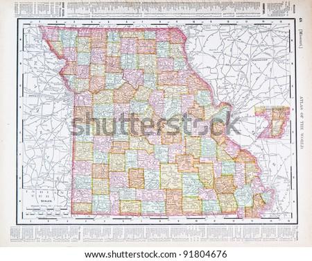 Missouri Map Stock Images RoyaltyFree Images Vectors - Missouri us map