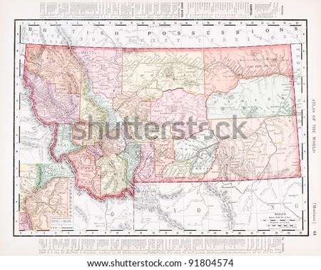 Montana Map Stock Images RoyaltyFree Images Vectors Shutterstock - Montana usa map