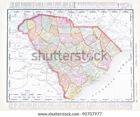 South Carolina Map Stock Images RoyaltyFree Images Vectors - Map of the carolinas usa
