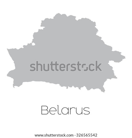 A Map of the country of Belarus
