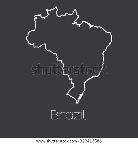 A Map of the country of Brazil - stock photo