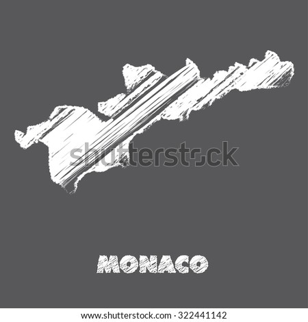 A Map of the country of Monaco