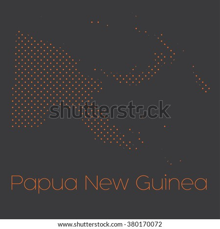 A Map of the country of Papua New Guinea