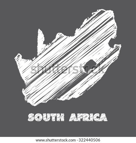 A Map of the country of South Africa - stock photo