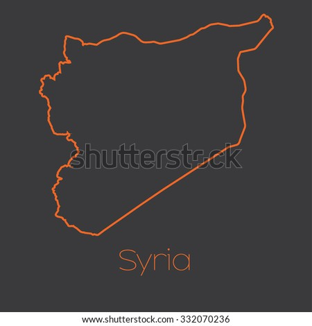 A Map of the country of Syria - stock photo