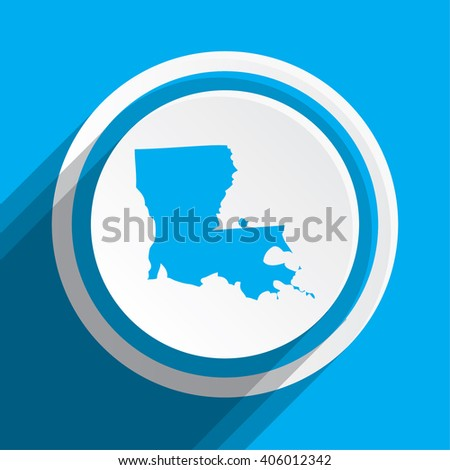 A Map of the the state Louisiana - stock photo