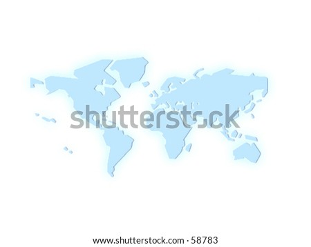 a map of the world - expand your business - stock photo
