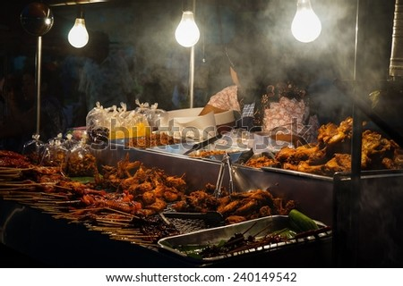 A market stall in Phuket, Thailand - stock photo