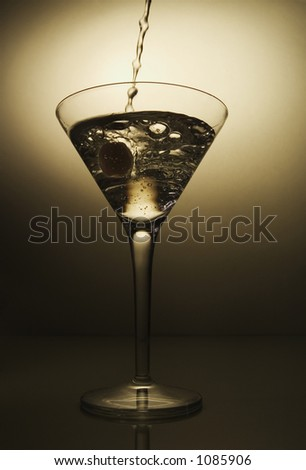a martini being poured