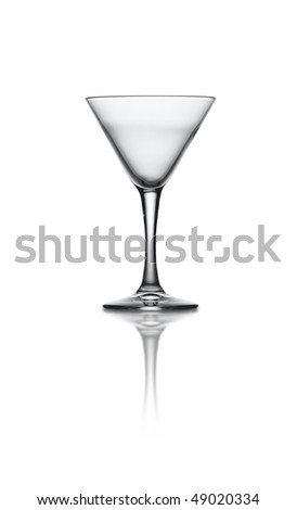 A martini glass on white background with path - stock photo