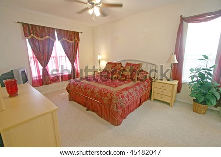 A Master Bedroom, Interior Shot in a Home - stock photo