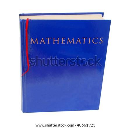 A math book - stock photo