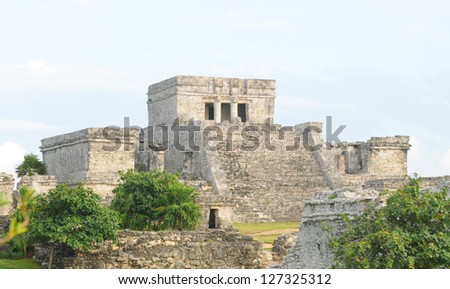 A Mayan Temple Used for Ceremonial purposes in Tulum, Mexico
