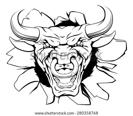 Mean Bull Face