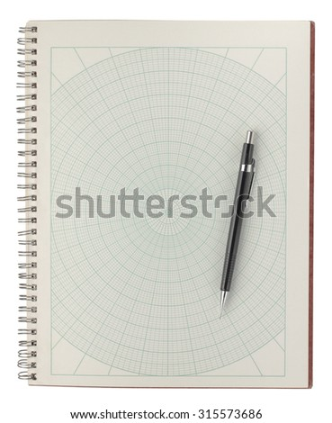 Old Sheet Polar Graph Paper Shows Stock Photo 315577895 - Shutterstock
