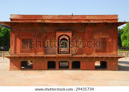 A medieval building in the Red Fort complex in New Delhi, India - stock photo