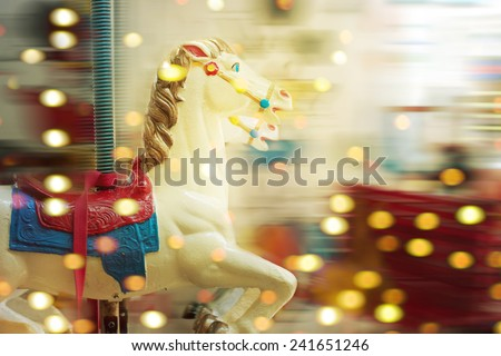 A merry-round-go - stock photo