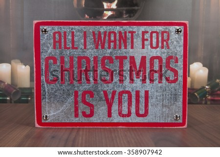 A metal holiday sign decoration for Christmas
