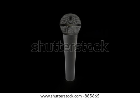 A microphone. - stock photo