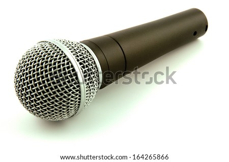 A microphone isolated on a white background