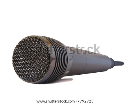 A Microphone isolated on white background - stock photo